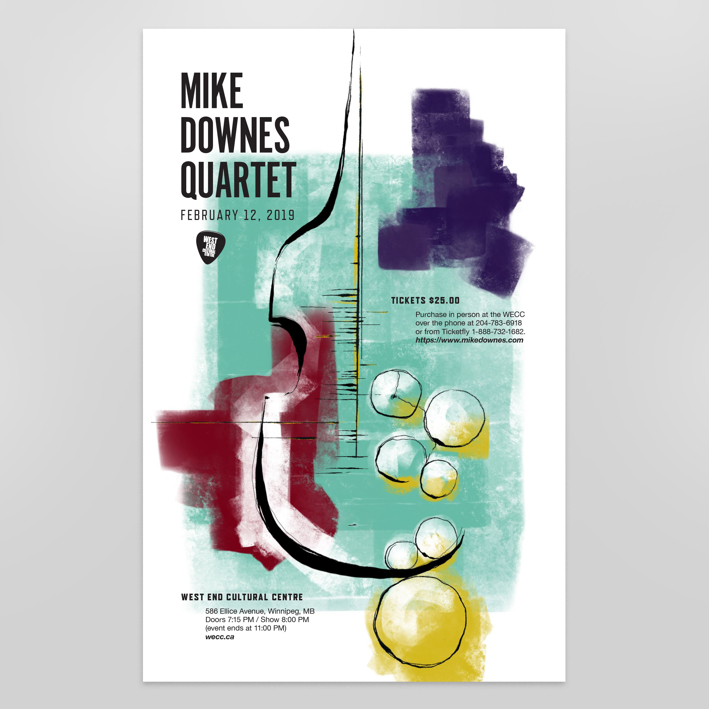 Mike Downes Gig Poster